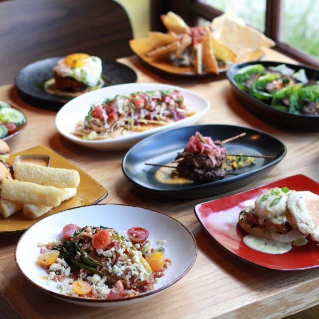 Cafe Tu Tu Tango food entrees on table