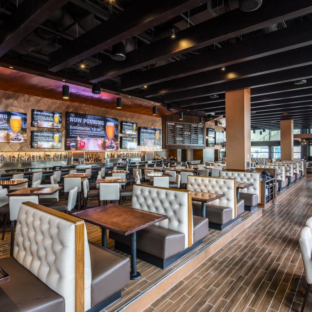 City Works Eatery & Pour House interior seating view