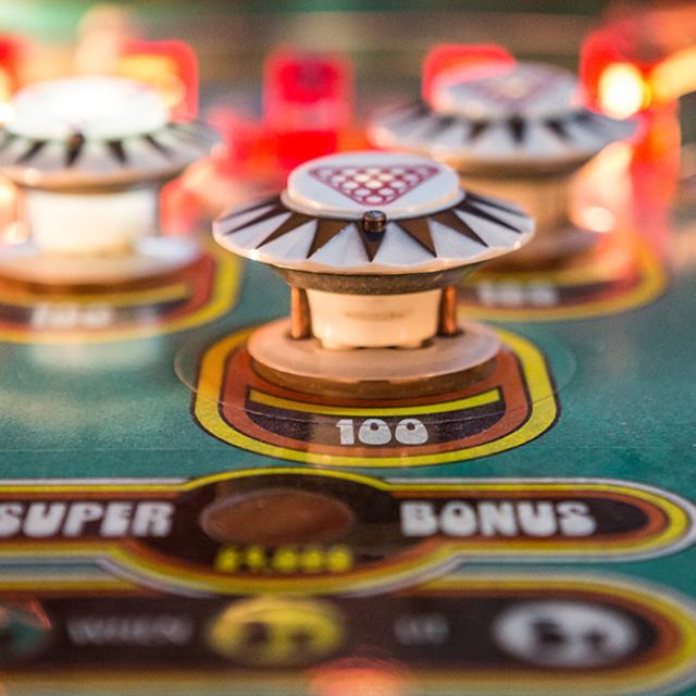 The Pinball Palace bumpers