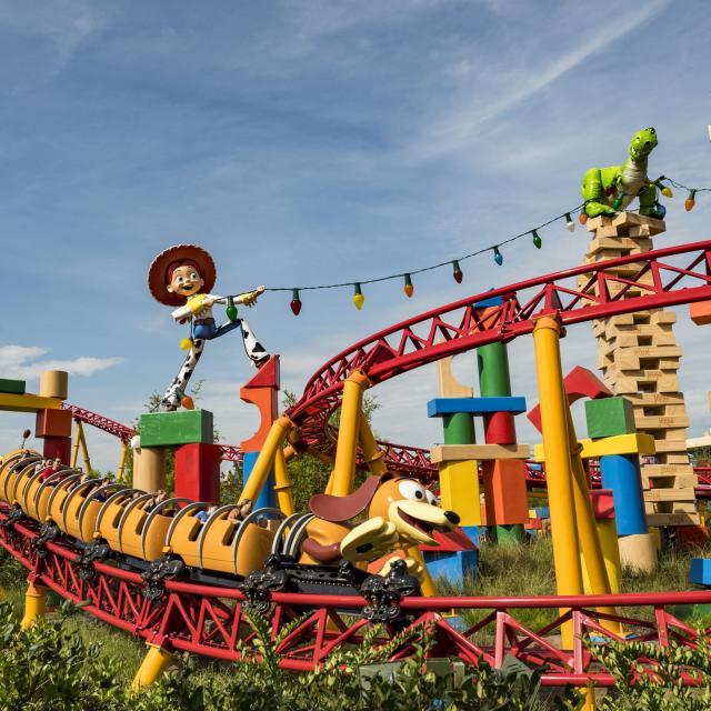 Slinky Dog Dash at Toy Story Land at Disney's Hollywood Studios.