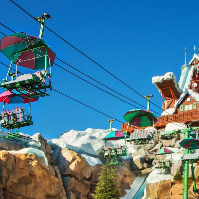 Chair lift at Disney's Blizzard Beach Water Park