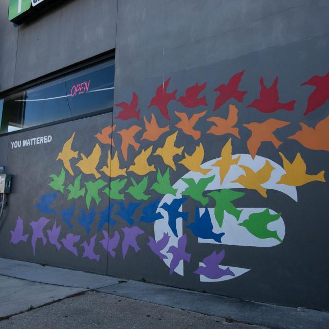 You Mattered Pulse Memorial mural in Mills 50.