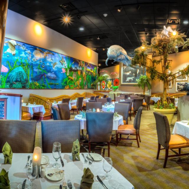 Everglades interior with aquarium