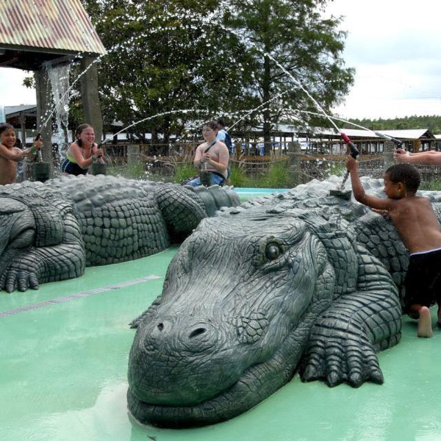Gatorland splash zone