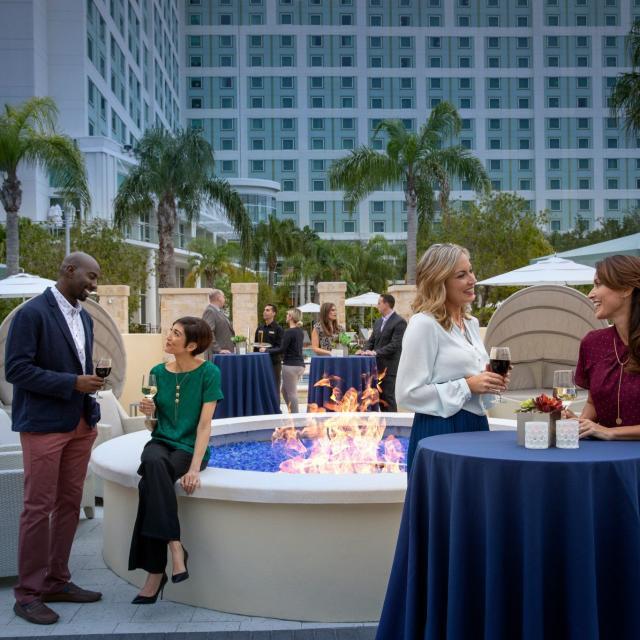 Hilton Orlando event on pool deck