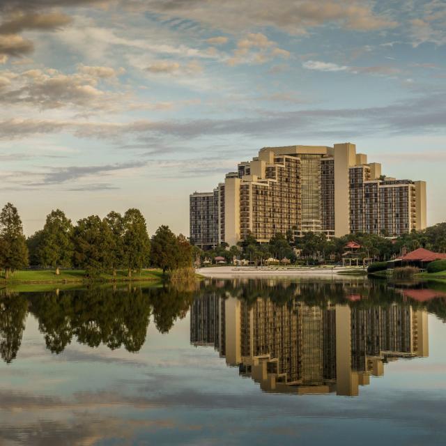 Hyatt Regency Grand Cypress hotel exterior and lake