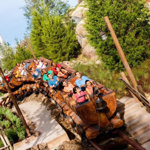 Seven Dwarfs Mine Train at Walt Disney World's Magic Kingdom Park