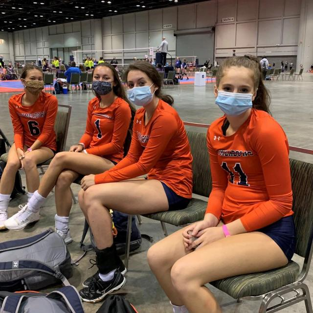 Photo of the AAU Volleyball Championships held at the OCCC in July 2020.