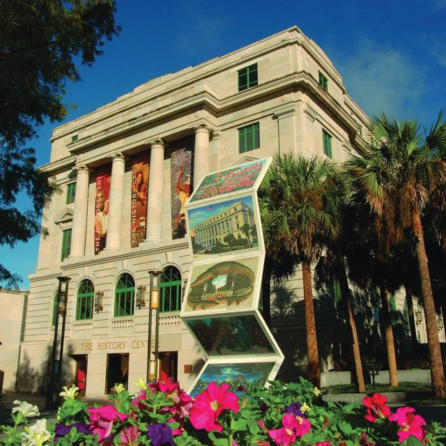 Exterior of the Orange County Regional History Center and Heritage Square in downtown Orlando
