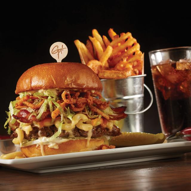 Planet Hollywood Observatory burger meal