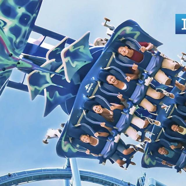 Manta roller coaster at SeaWorld Orlando for zoom background