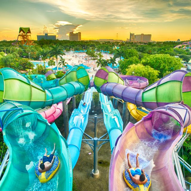 Aquatica® Orlando riptide race aerial