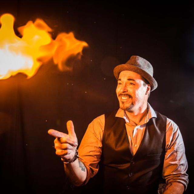 The Outta Control Magic Comedy Dinner Show magic trick
