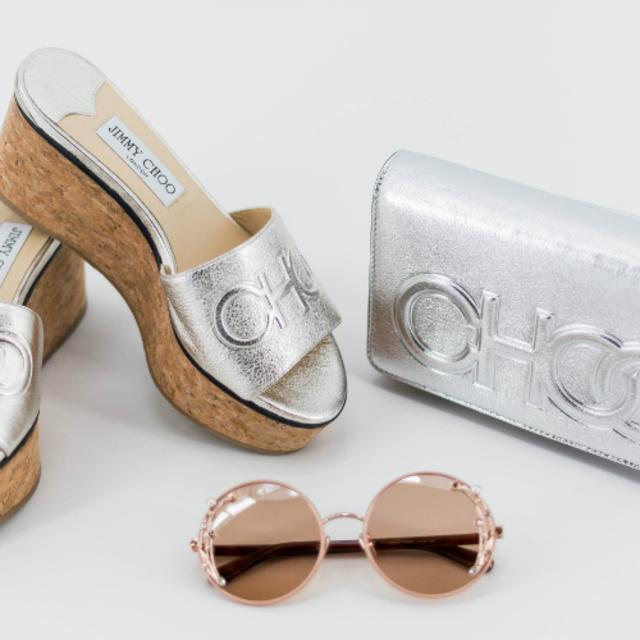 Jimmy Choo shoes, bag and sunglasses at at the Mall at Millenia