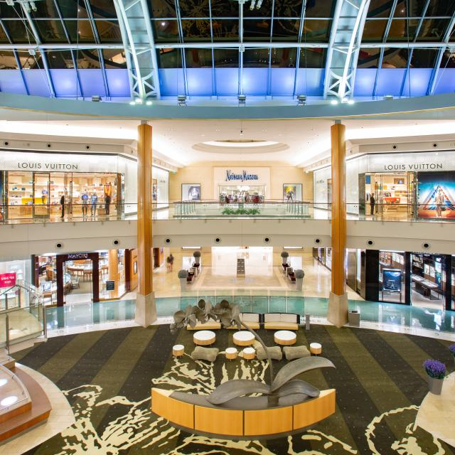 Interior view of two floors, facing Neiman Marcus, at The Mall of Millenia.