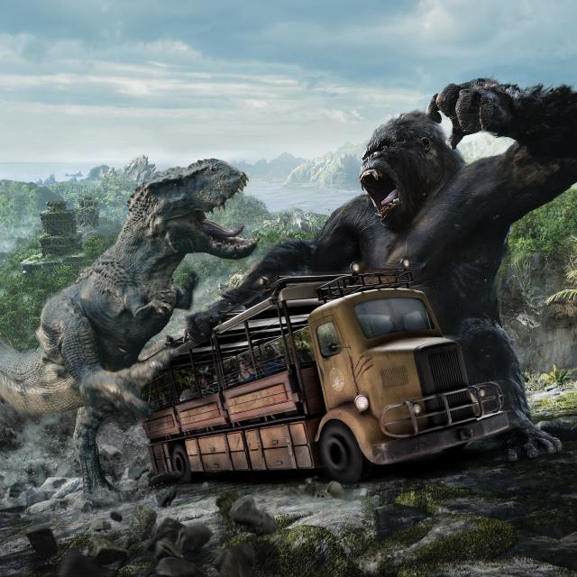 Universal's Islands of Adventure Kong Battle rendering