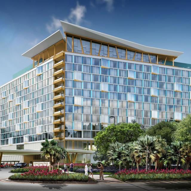 Walt Disney World Swan and Dolphin Resort Rendering another exterior of The Reserve