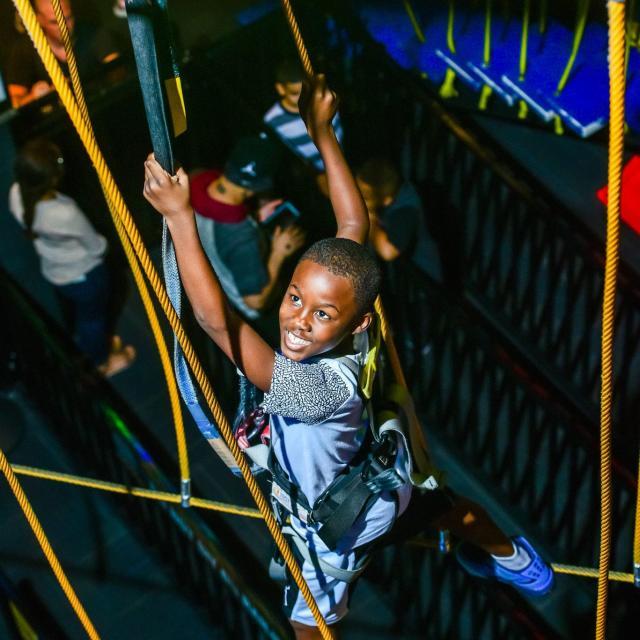 WonderWorks boy on ropes course
