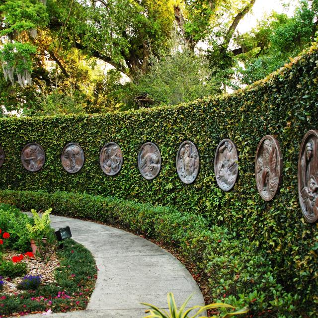Albin Polasek Museum & Sculpture Gardens courtyard