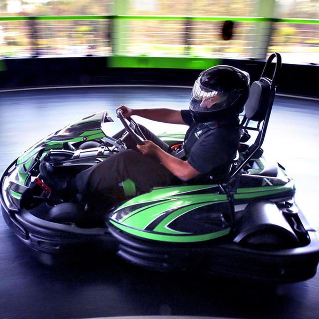 Andretti Indoor Karting & Games kart turn