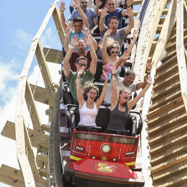 Fun Spot America Orlando rollercoaster