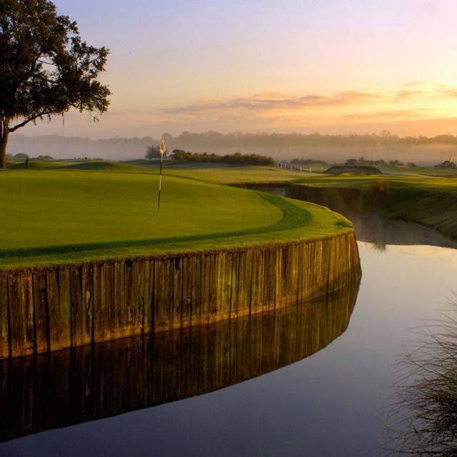 Grand Cypress Golf Club water sunrise