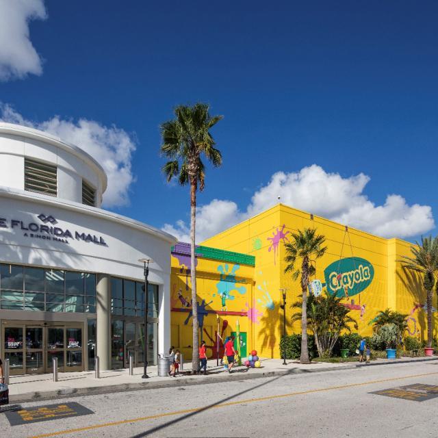 The Florida Mall exterior Crayola