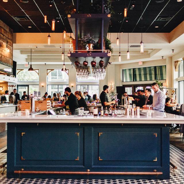 Interior of The Osprey bar and restaurant