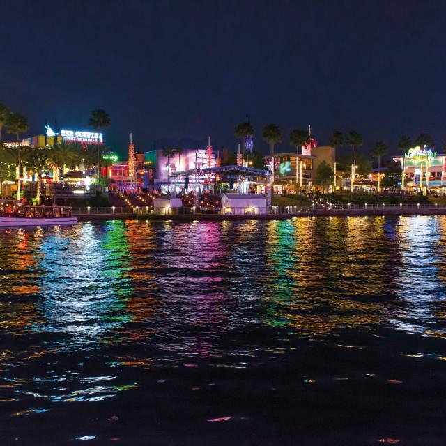 View of Universal CityWalk at night