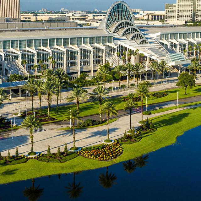 Drone image of the Orange County Convention Center