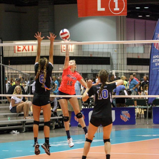 AAU Volleyball in action
