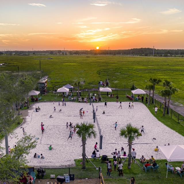 Beach Volleyball courts at Boxi Park in Lake Nona