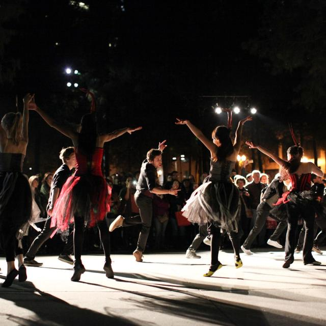 Orlando Ballet night performance at IMMERSE event in downtown Orlando.