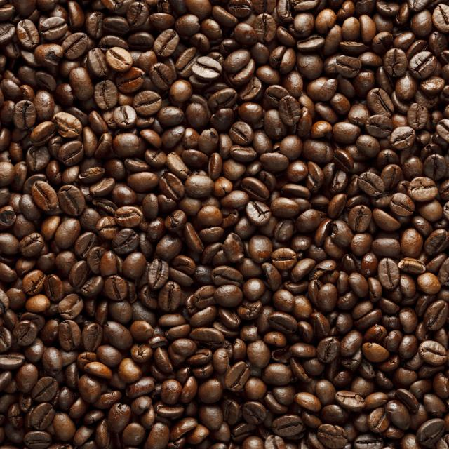 A background of coffee beans