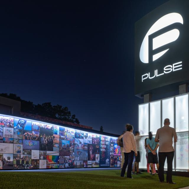 onePULSE Foundation memorial at night