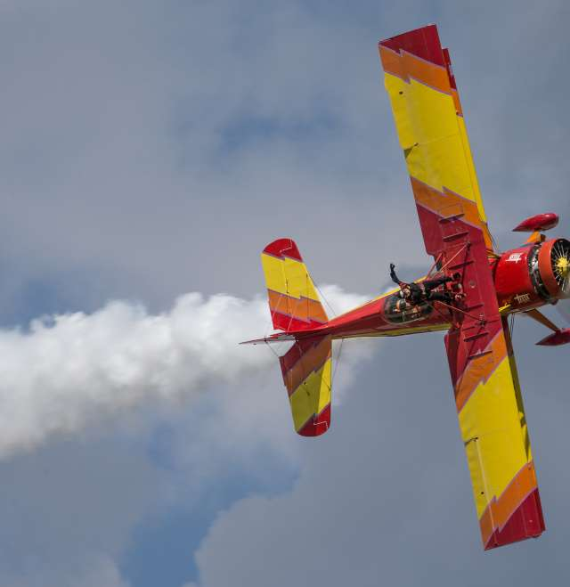 Gene Soucy and Theresa Stokes air show
