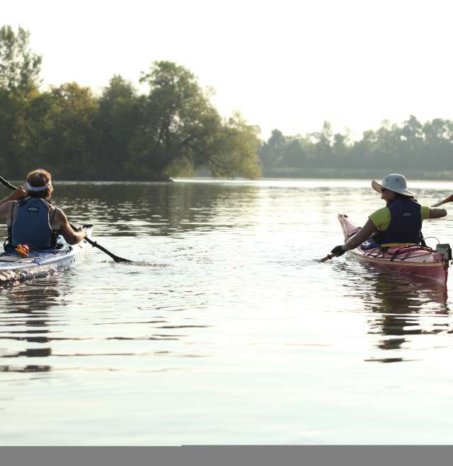 Kayaking Two Women