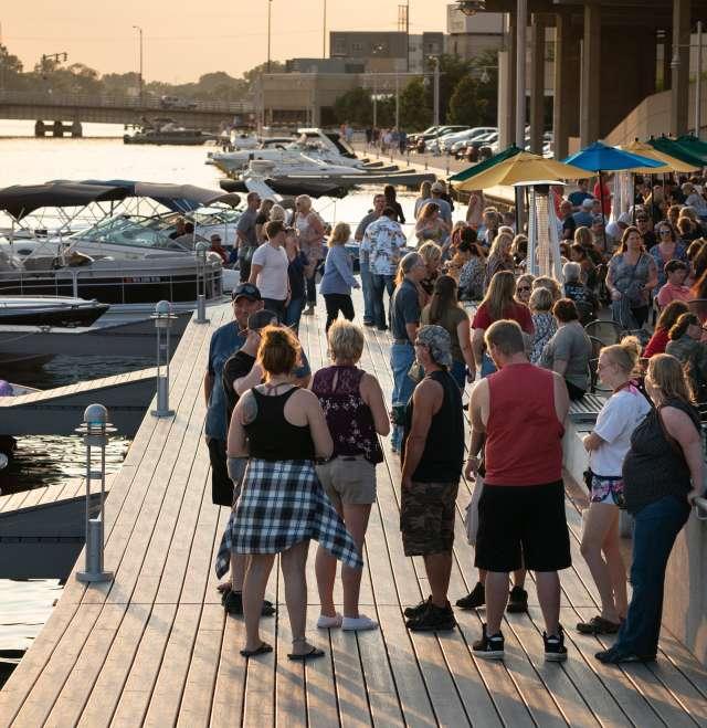 Riverwalk Crowd