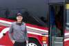 man beside bus - step-on tour