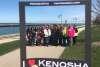 Group next to the Kenosha harbor