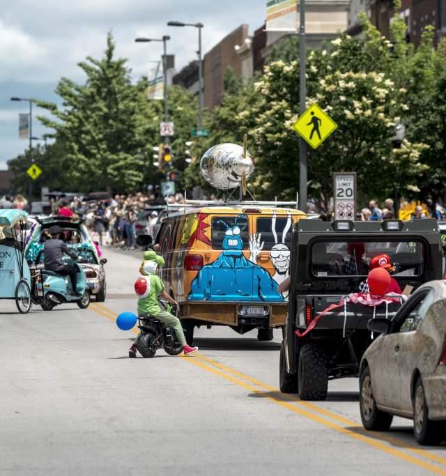 Art Tougeau Parade in Downtown Lawrence Kansas