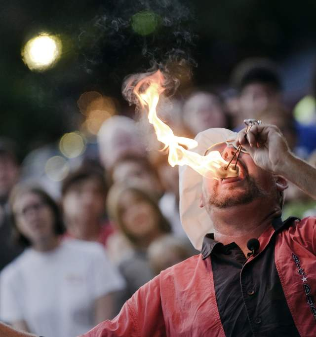 Fire Eater and Lawrence Busker Festival