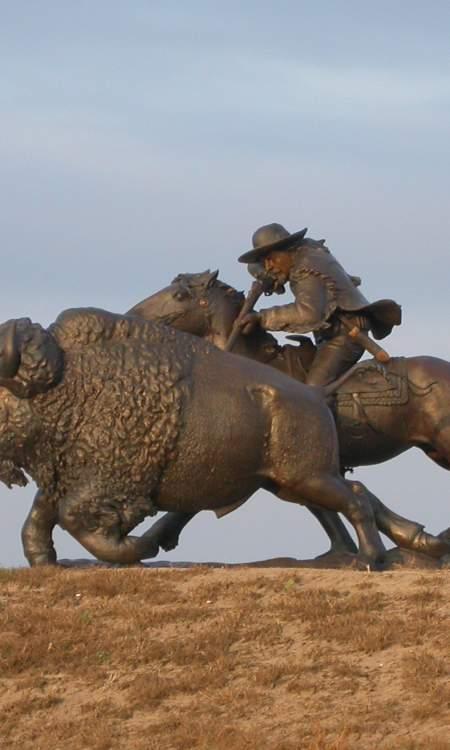 Buffalo Bill Bronze Sculpture