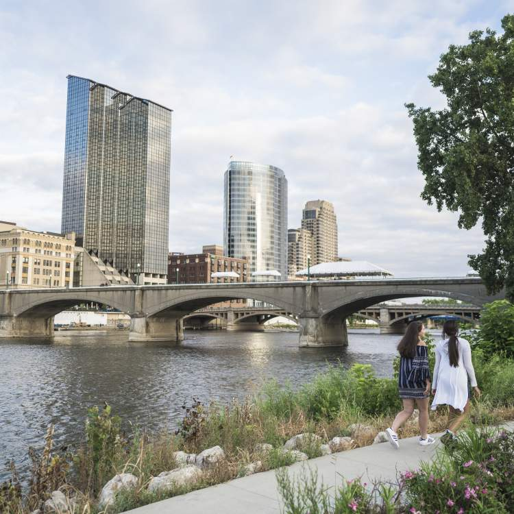 Downtown Grand Rapids Skyline in the Summer