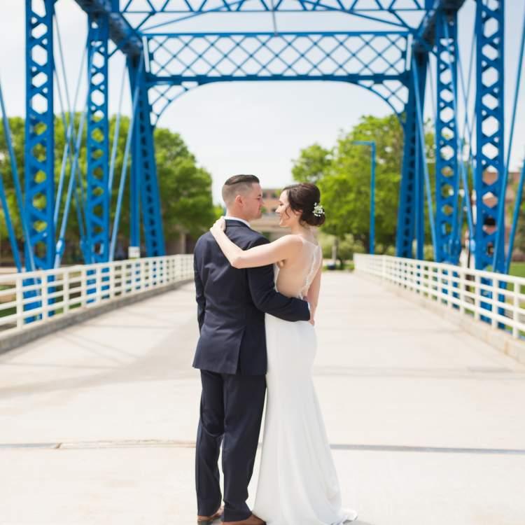 Lindsey and Blake at the Blue Bridge - The Mittentog Studio
