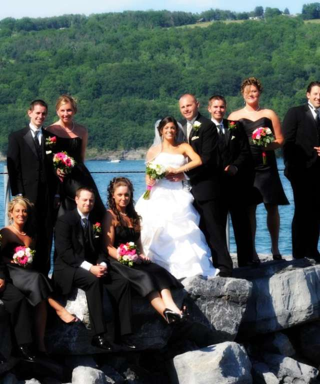 Wedding Group on Rocks