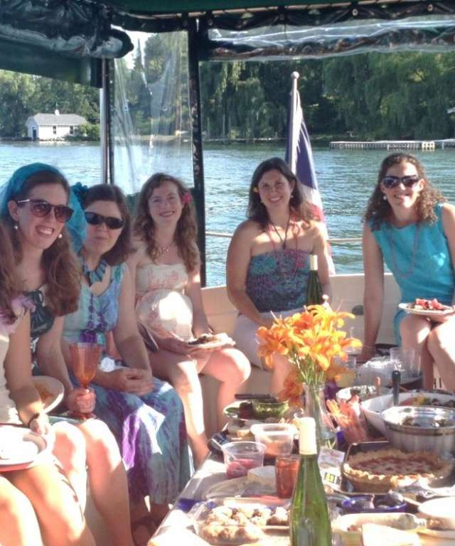 Group of Women on Dining Cruise