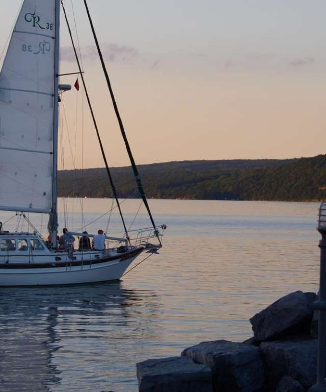 sailing on seneca lake - sunset