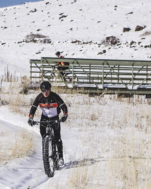North Table Mountain Winter Mountain Bikers