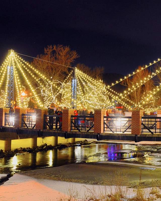 Christmas Bridge Lights